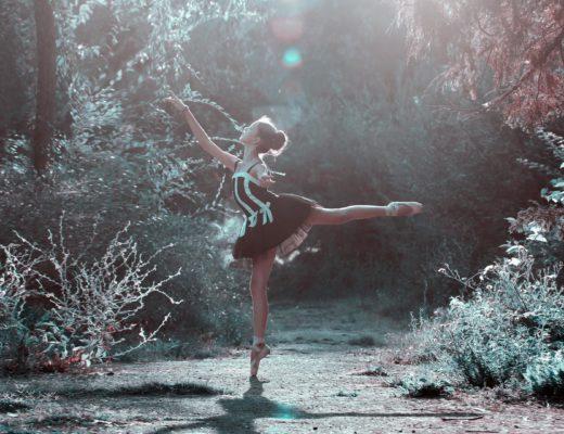 Ballet fille forêt